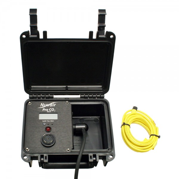 Pro CO2 Alarm Analyzer w/ Relay in Waterproof Box - 9615-5-LB